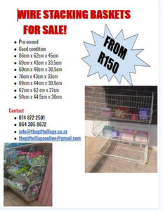 WIRE STACKING BASKETS FOR SALE!