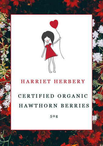 Certified Organic Hawthorn Berries 50g - Harriet Herbery