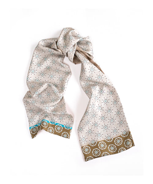 Silk scarf for Men / Thirsty for Adventurees