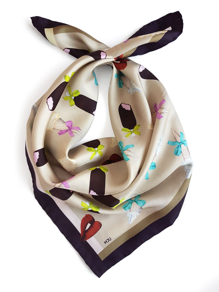 Silk scarf / Ice Cream Passion