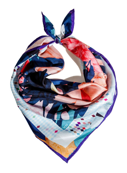 Silk scarf / Tropical Moonlight