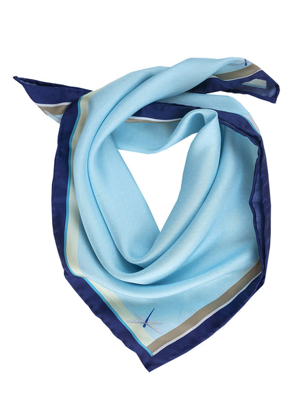 Silk scarf / Frosted dragonflies