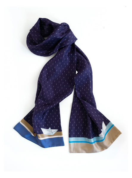 Silk scarf for Men / Wind of Freedom