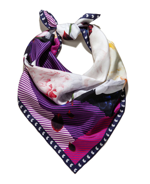 Silk scarf / High On Flowers