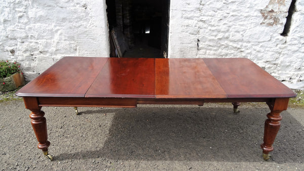 Victorian 2 leaf mahogany dining table - Country Homes Antiques