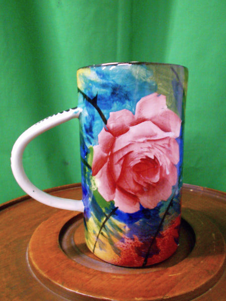 Scottish Wemyss tankard. Red roses. - Country Homes Antiques