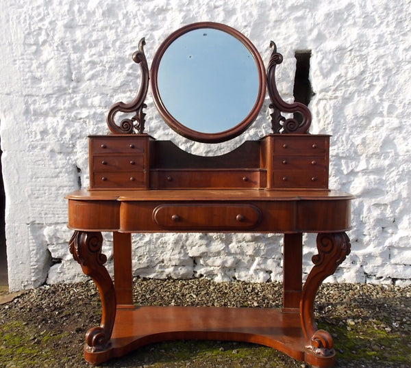 A good quality Victorian Dutchess Mahogany Dressing table. Antiques Scotland