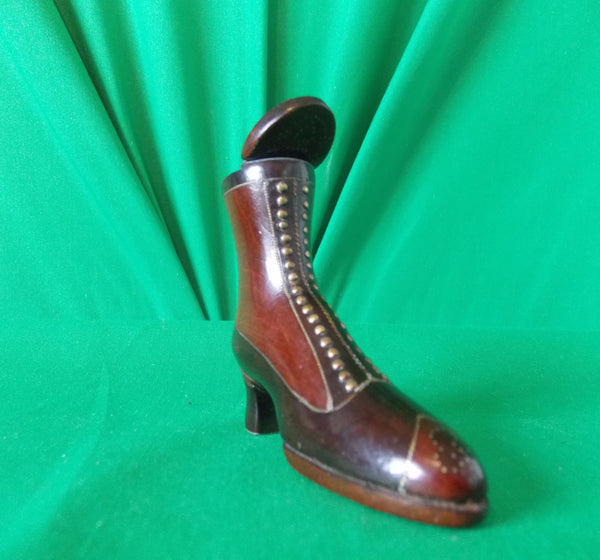 A superb top quality Victorian wooden ladys boot, COUNTRY HOMES ANTIQUES