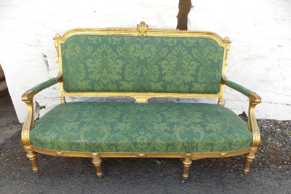 A good 19th cent French Giltwood Sofa. COUNTRY HOMES ANTIQUES