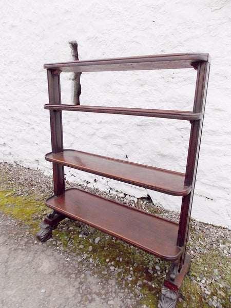 Victorian Mahogany Dumb waiter. COUNTRY HOMES ANTIQUES