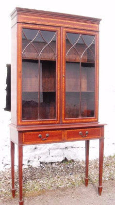 Edwardian Asrtrigal glazed Bookcase- Country Homes Antiques