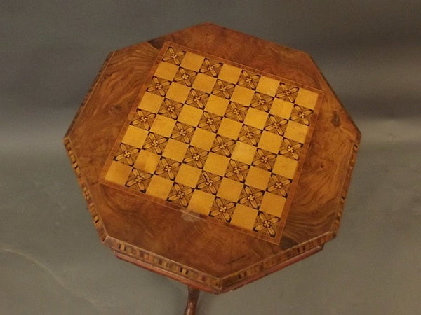 A Victorian Parquetry inlaid trumpet table.