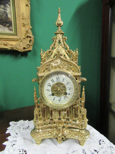 19th cent French fine mantle clock - Country Homes Antiques