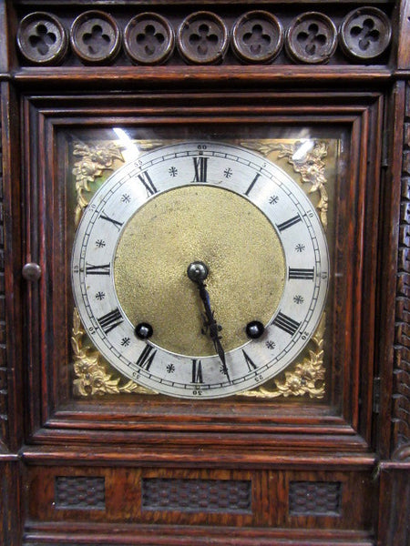Victorian oak cased C Marti mantle clock - Country Homes Antiques