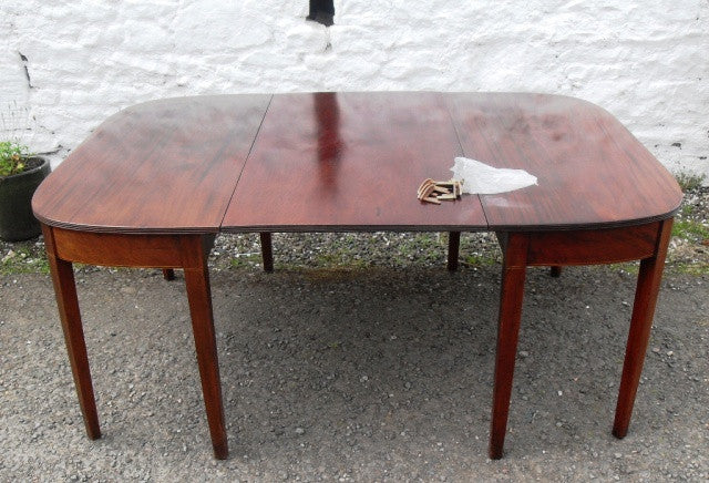 Georgian double d end table - Country Homes Antiques SCOTLAND