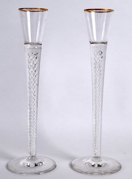 Geo 111 style pair of airtwist glasses. Country Homes Antiques