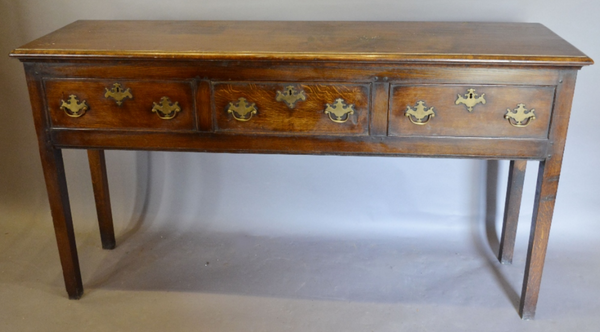 An Oak Dresser Base in George III Style. COUNTRY HOMES ANTIQUES SCOTLAND