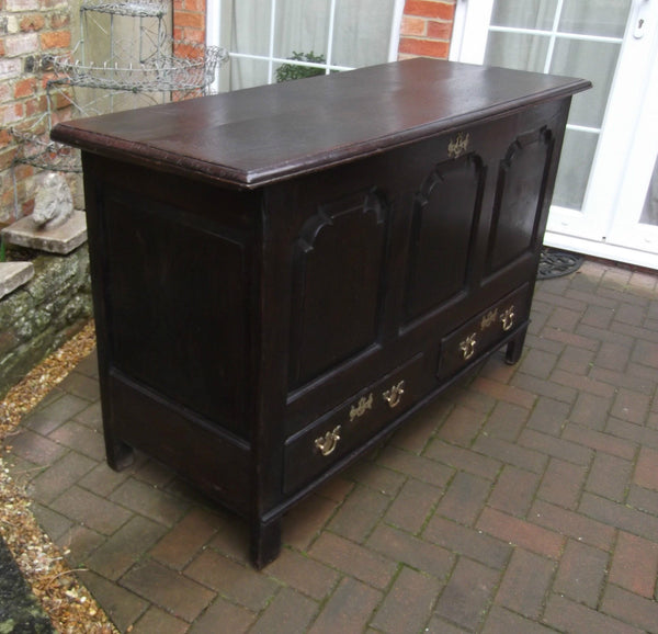 Georgian oak mule chest - Country Homes Antiques