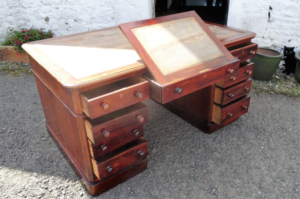 Victorian mahogany partners desk - Country Homes Antiques