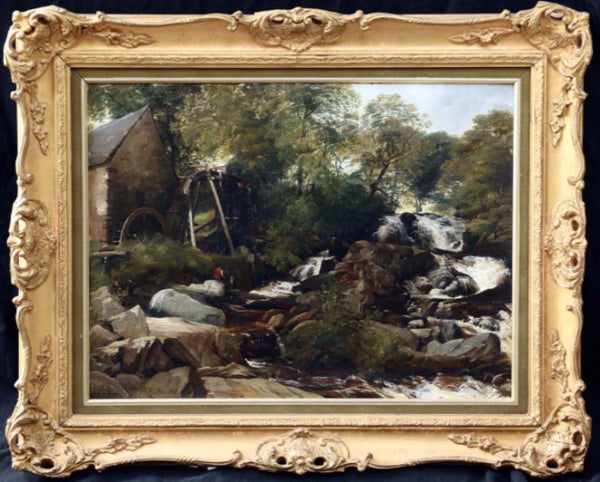 Frederick Richard Lee R.A. Oil Painting - Country Homes Antiques
