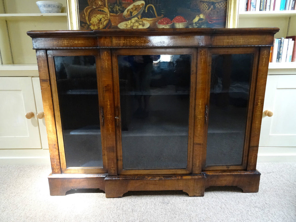 Victorian burr walnut and marquetry cabinet - Country Homes Antiques