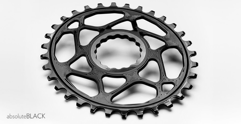 ABSOLUTE BLACK OVAL RACEFACE CINCH DIRECT MOUNT 30T BLACK CHAINRING