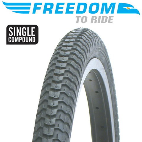 "FREEDOM MX2 18 x 2.125"" BLACK TYRE"