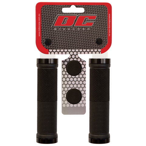 BIKECORP LOCK-ON GRIPS BLACK