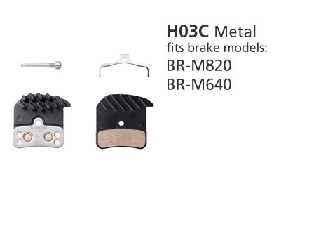 SHIMANO BR-M820 H03C METAL ICE TECH SAINT/ZEE DISC BRAKE PADS