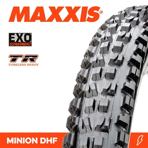 "MAXXIS MINION DHF 27.5 X 2.30"" TR EXO FOLD 60TPI TYRE"