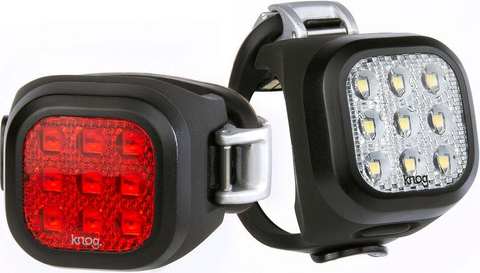 LIGHT SET KNOG BLINDER MINI NINER TWINPACK 20 LUMENS FRONT 11 LUMENS BACK BLACK