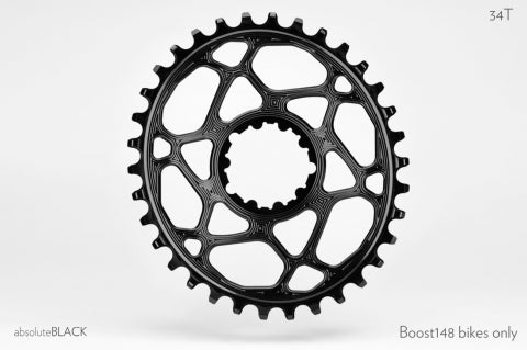ABSOLUTE BLACK OVAL SRAM XX1 DIRECT MOUNT BOOST 34T BLACK CHAINRING