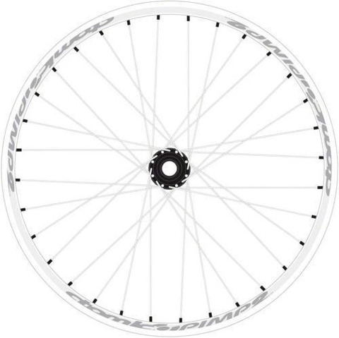 "ATOMLAB PIMPLITE 135X12MM 8-10 SPEED WHITE 26"" REAR WHEEL"