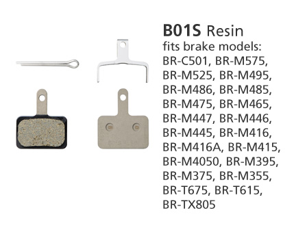 SHIMANO BR-M446 B01S DISC BRAKE PADS RESIN