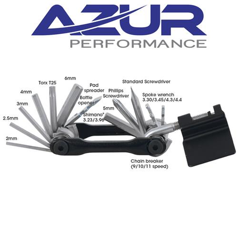 AZUR MULTI 18 FUNCTION TOOL BLACK