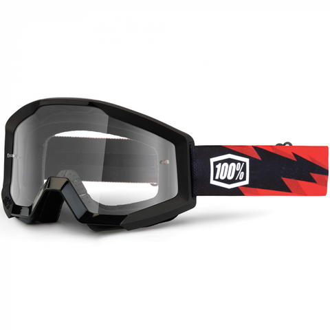 100% GOGGLES STRATA CLEAR LENS SLASH