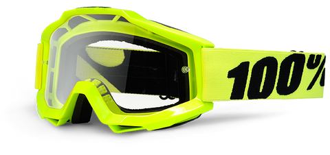 100% GOGGLES ACCURI YOUTH FLURO YELLOW