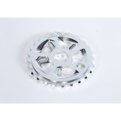 DIVISION FORCE 28T POLISHED SILVER SPROCKET