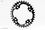 ABSOLUTE BLACK 4 BOLT OVAL 94 X 34T SRAM BLACK CHAINRING