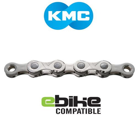KMC E11 11 SPEED 122 LINK SILVER CHAIN E-BIKE COMPATIBLE