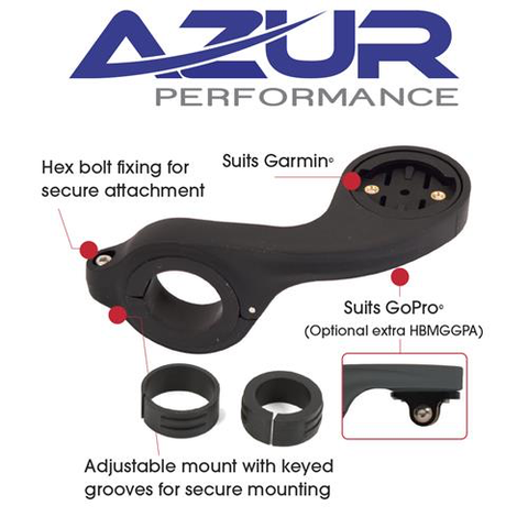 AZUR CYCLE COMPUTER OUT FRONT HANDLEBAR MOUNT BLACK