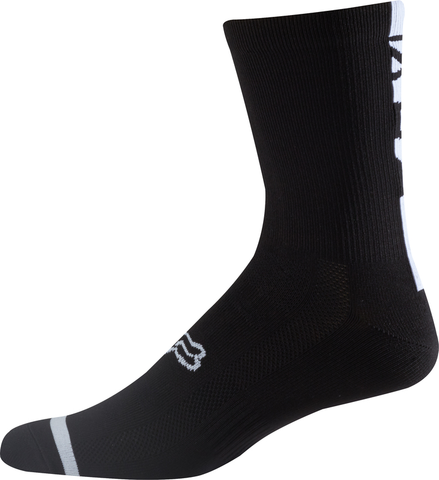 "FOX LOGO 8"" TRAIL SOCKS BLACK"