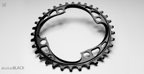 ABSOLUTE BLACK 4 BOLT 104 X 34T BLACK CHAINRING