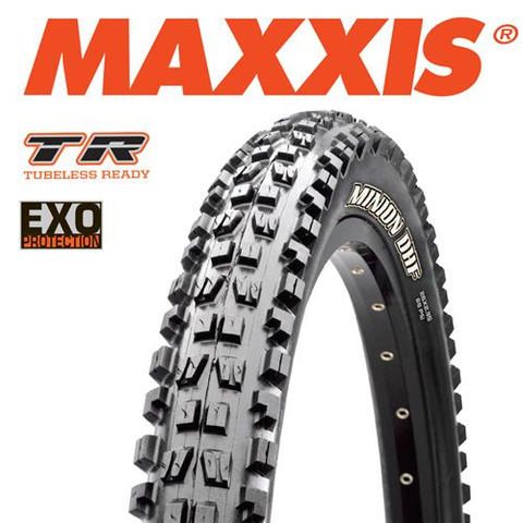 "MAXXIS MINION DHF 29 X 2.50"" TR EXO FOLD TYRE"