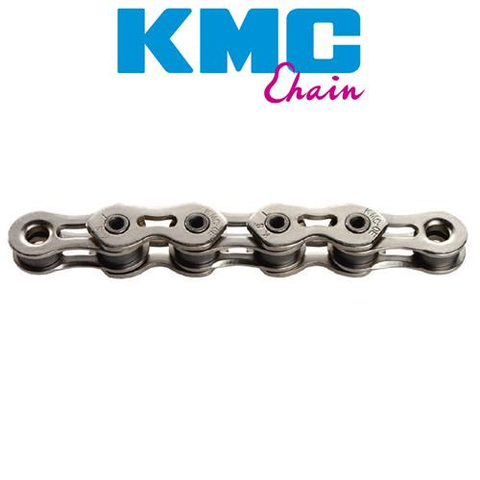 "KMC K1SL 1/2X3/32"" SINGLE SPEED 112L SILVER CHAIN"