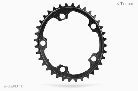 ABSOLUTE BLACK 5 BOLT 110 X 38 (2X) BLACK CHAINRING
