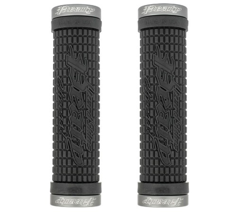 ODI MTB LIZARD SKIN PEATY SIGNATURE LOCK ON BLACK/GREY GRIPS