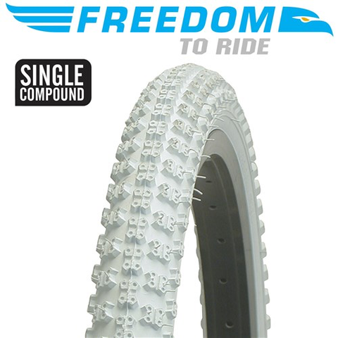 "FREEDOM MX3 20 X 2.125"" WHITE TYRE"