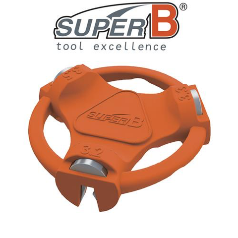 SUPER-B CLASSIC SPOKE WRENCH MULTI 3.2, 3.3 & 3.5MM TOOL