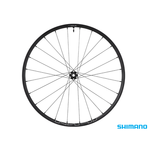 "SHIMANO WH-MT600 27.5"" BLACK 100x15mm CENTERLOCK TUBELESS FRONT WHEEL"